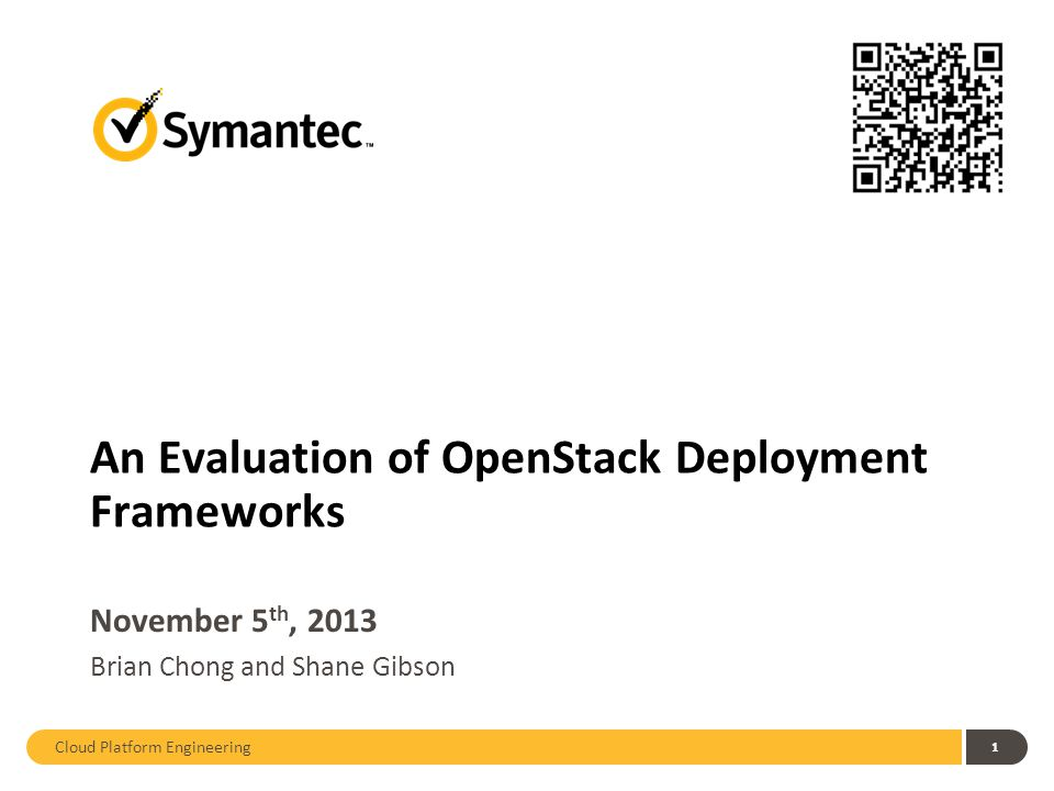 Cloud Platform Engineering 12 Provisioning Evaluation: OpenStack Overview