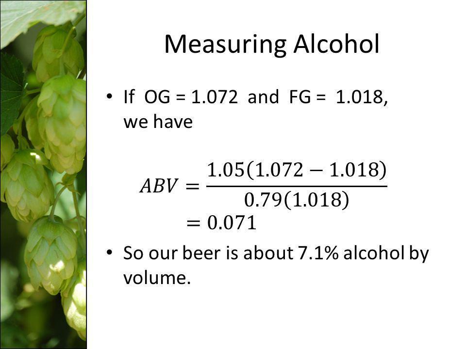 Measuring Alcohol