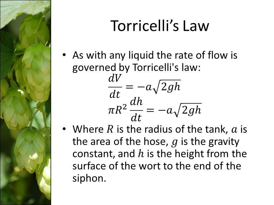 Torricellis Law