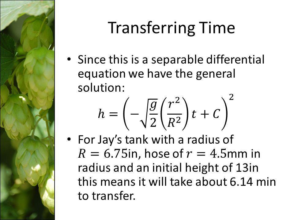 Transferring Time