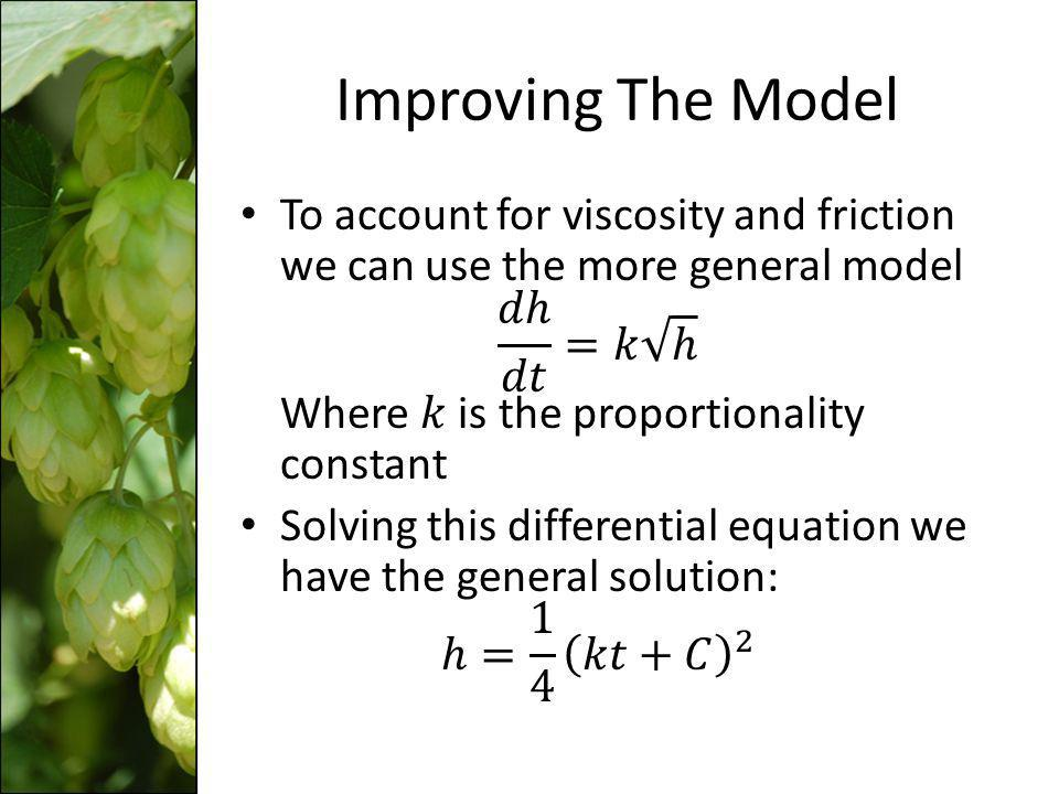 Improving The Model
