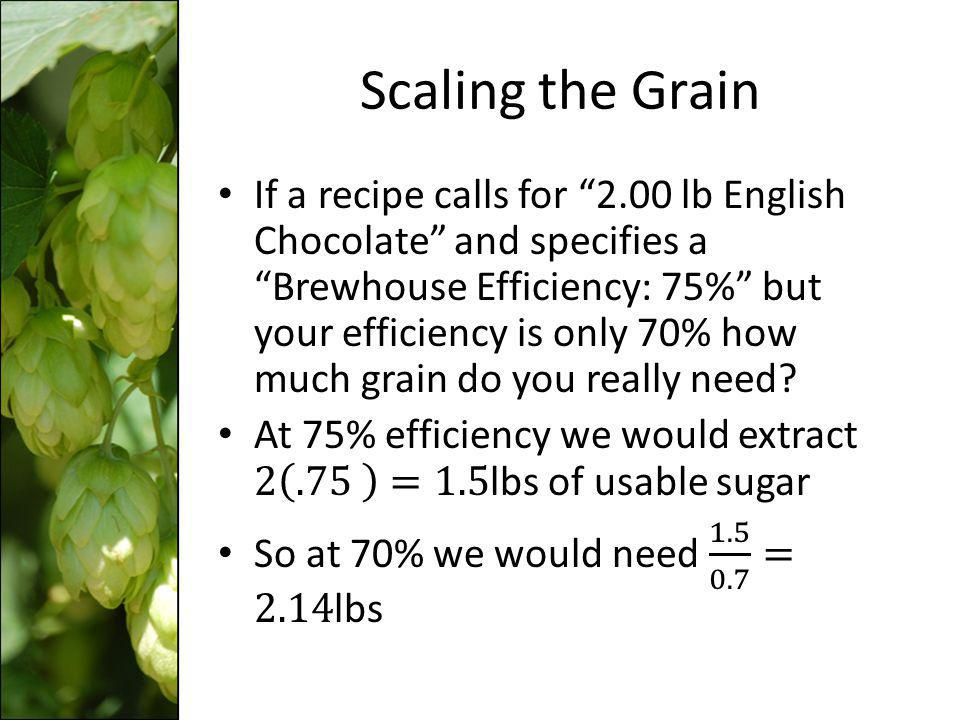 Calculating Your Efficiency While youre waiting for the beer to ferment you can use the original gravity to calculate your own efficiency.