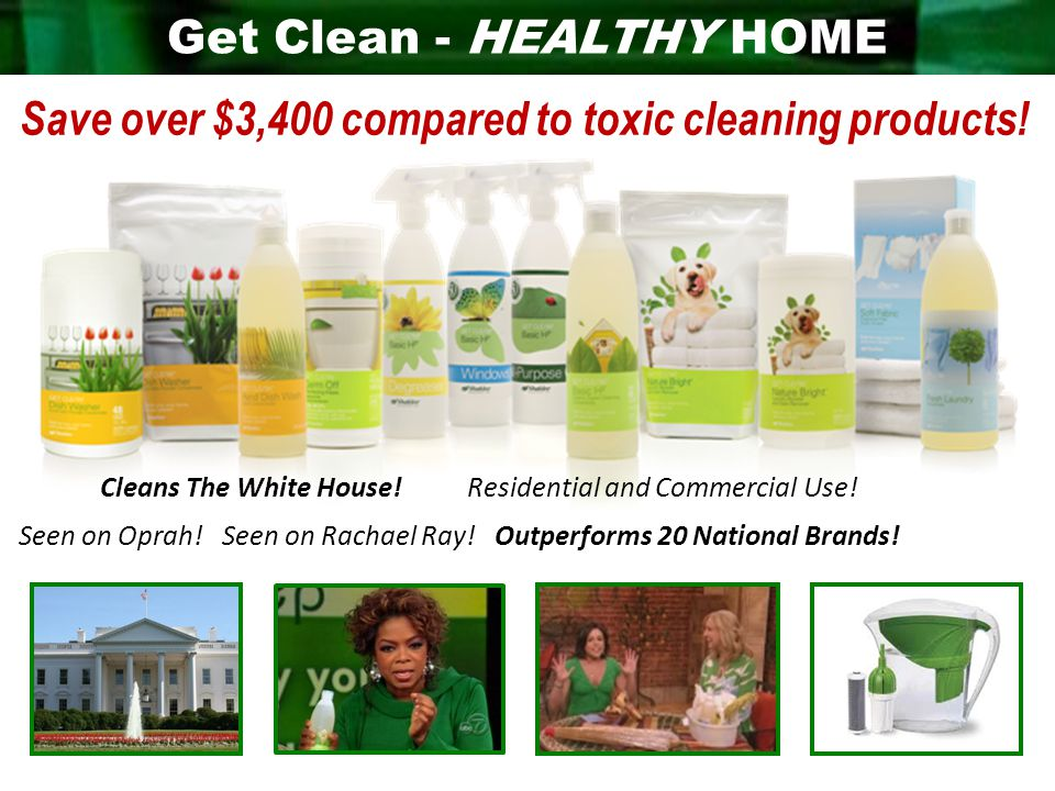 Get Clean - HEALTHY HOME Seen on Oprah. Seen on Rachael Ray.