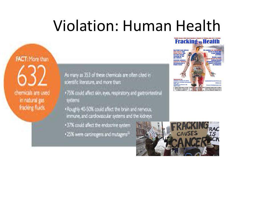 Violation: Human Health