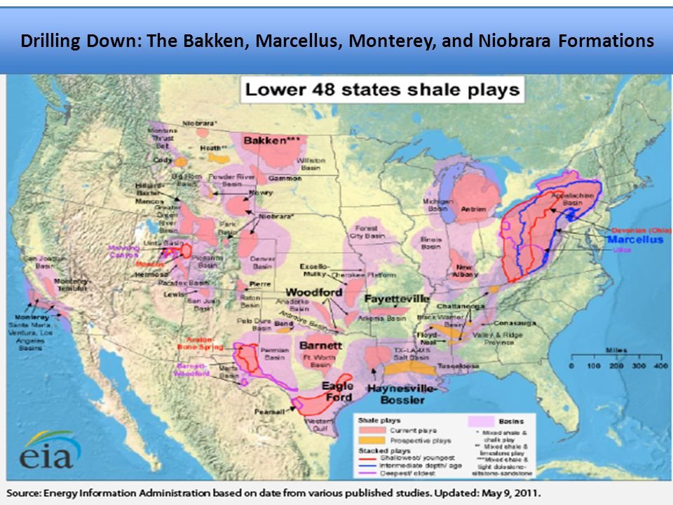 Text Drilling Down: The Bakken, Marcellus, Monterey, and Niobrara Formations