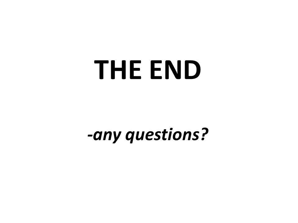 THE END -any questions?