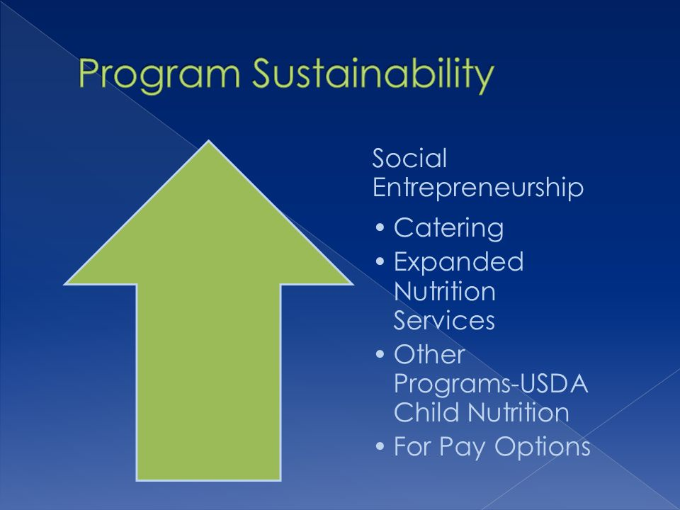Social Entrepreneurship Catering Expanded Nutrition Services Other Programs-USDA Child Nutrition For Pay Options
