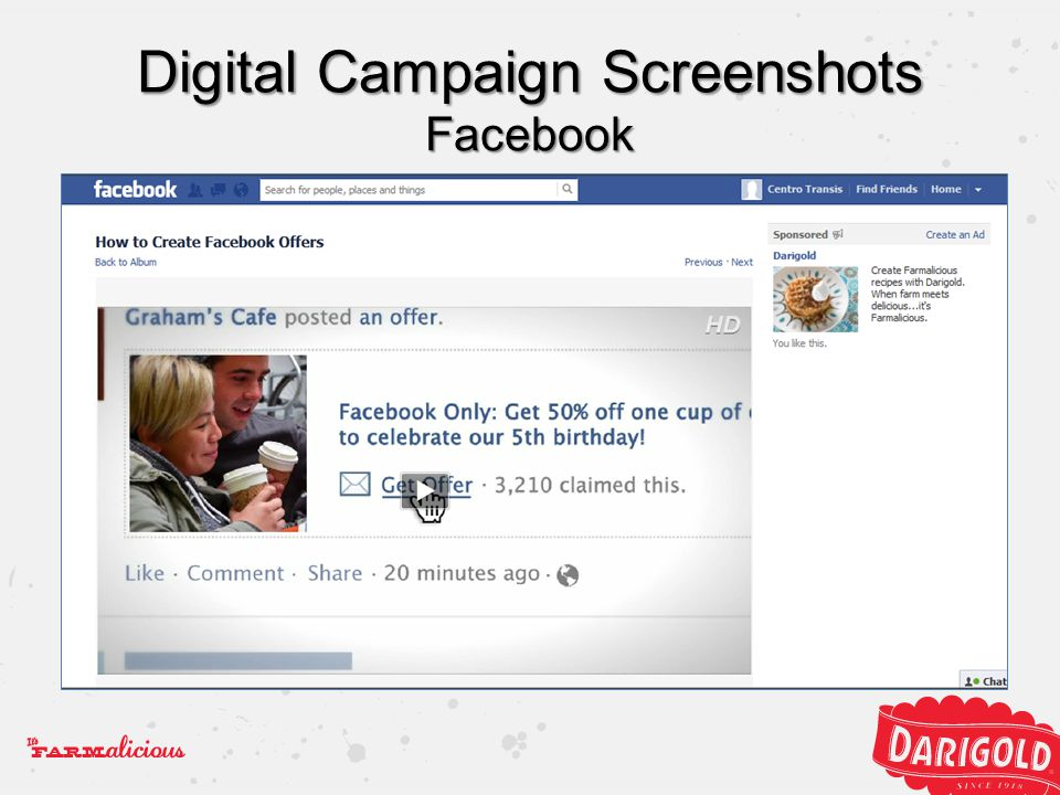 Digital Campaign Screenshots Facebook