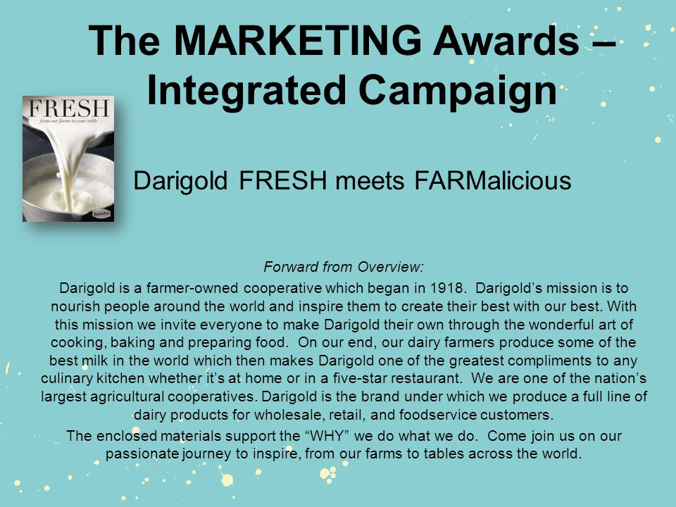Farmalicious Newsletter Monthly email newsletter with a seasonal recipe from FRESH Magazine.