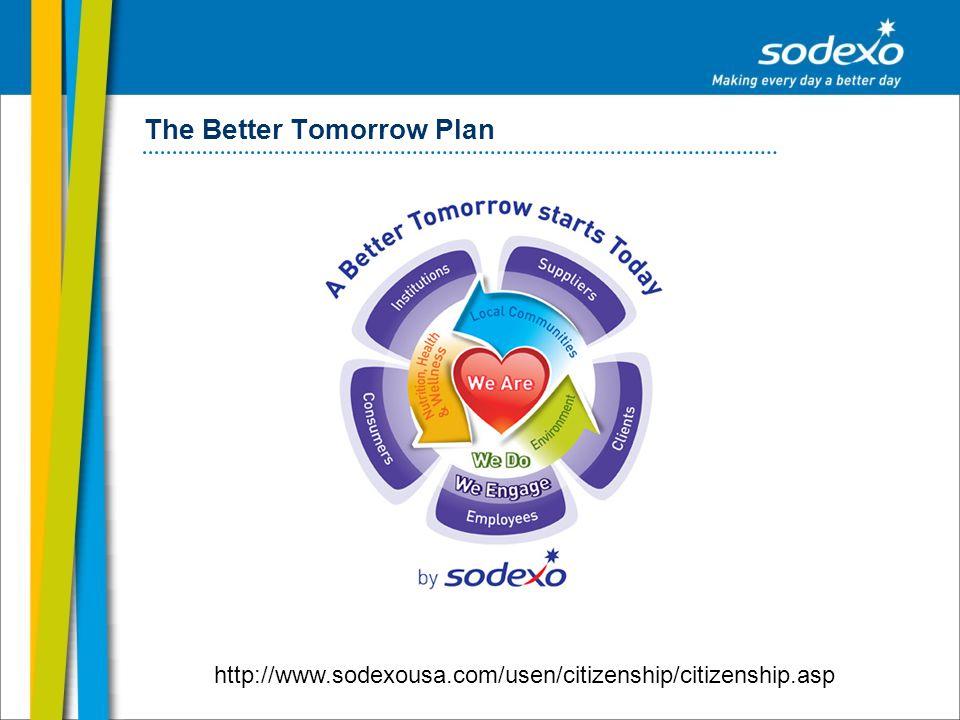 The Better Tomorrow Plan http://www.sodexousa.com/usen/citizenship/citizenship.asp