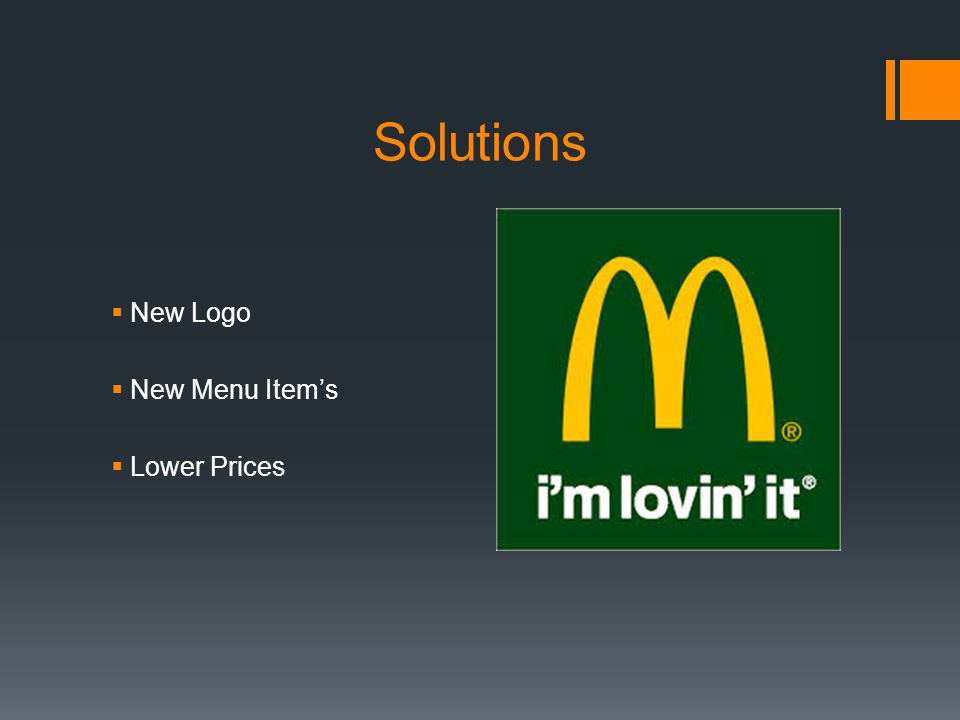 Solutions New Logo New Menu Items Lower Prices