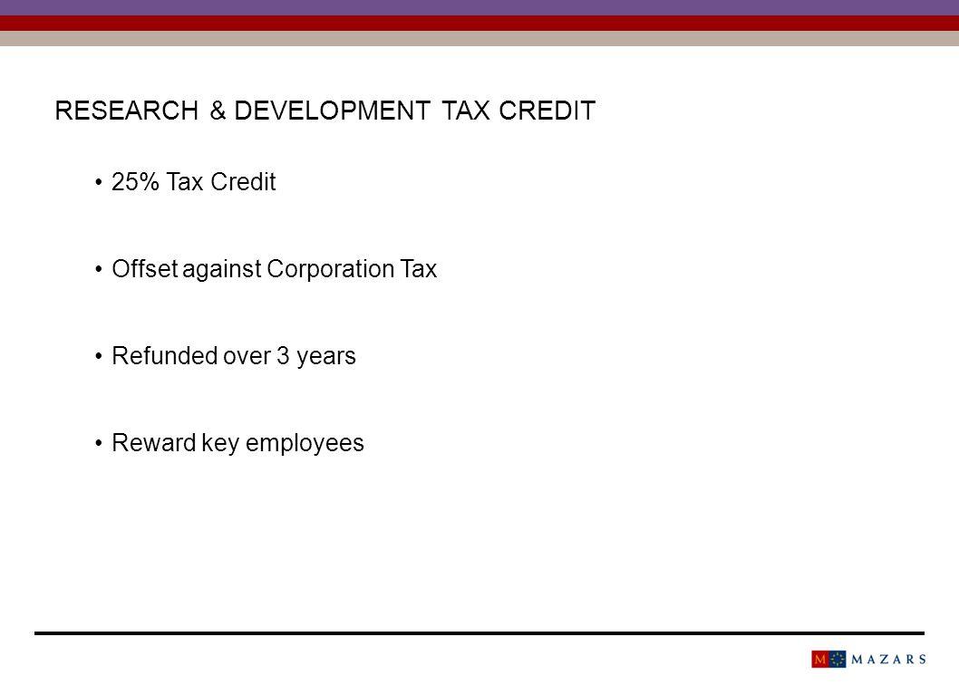 COMPANY TAX CREDIT 60,000 RDTC Year 1 Refund Year 2 Refund Year 3 Refund Year 4 Refund Year 120,000 - Year 2-20,000 Year 3--20,000 Year 4---20,000 40,00060,000