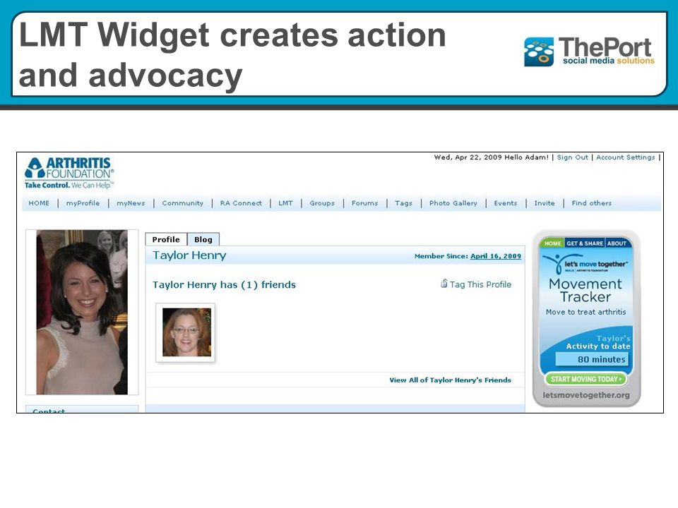 LMT Widget creates action and advocacy