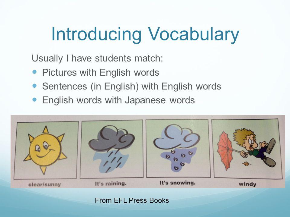 Car Parts Vocabulary Example
