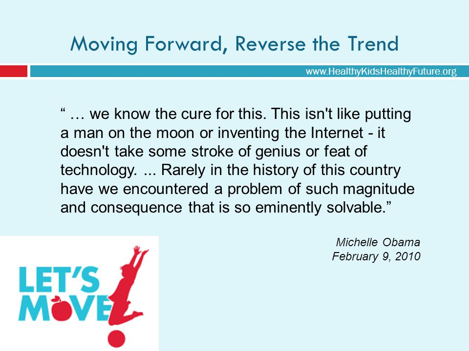 Moving Forward, Reverse the Trend … we know the cure for this.