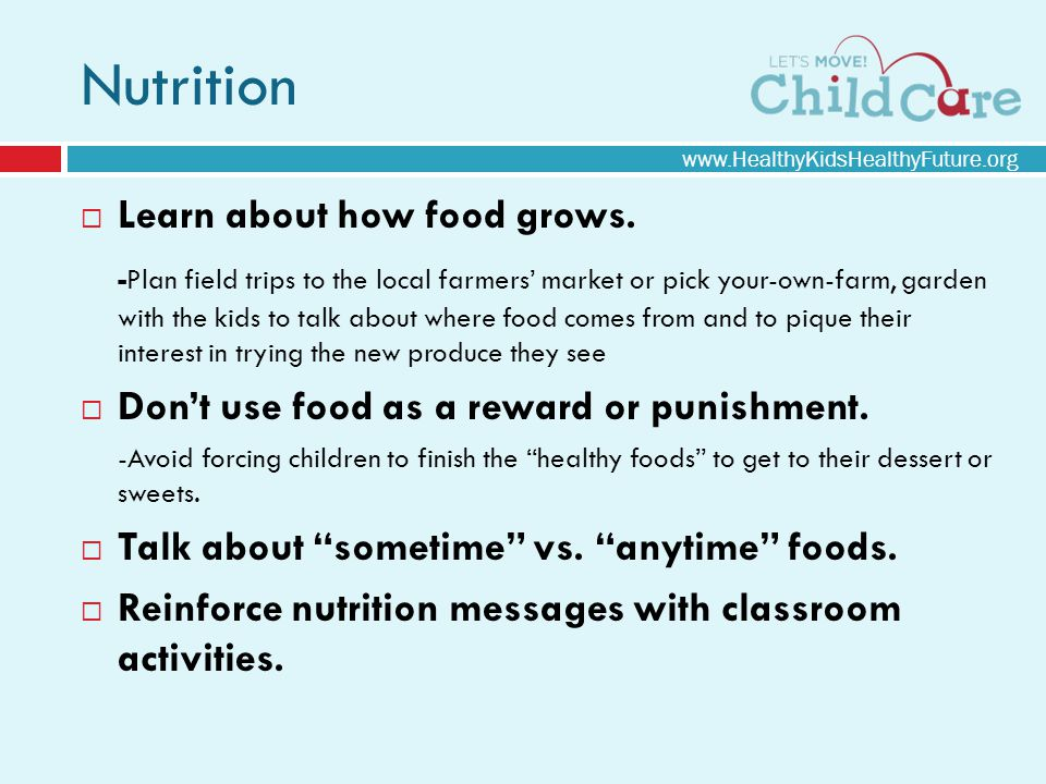Nutrition Learn about how food grows.
