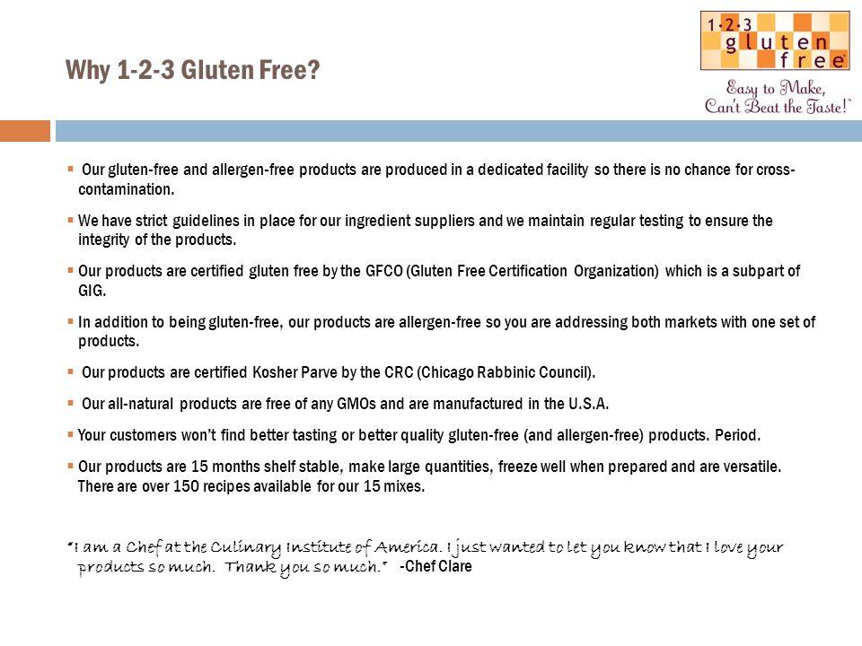 Why 1-2-3 Gluten Free.