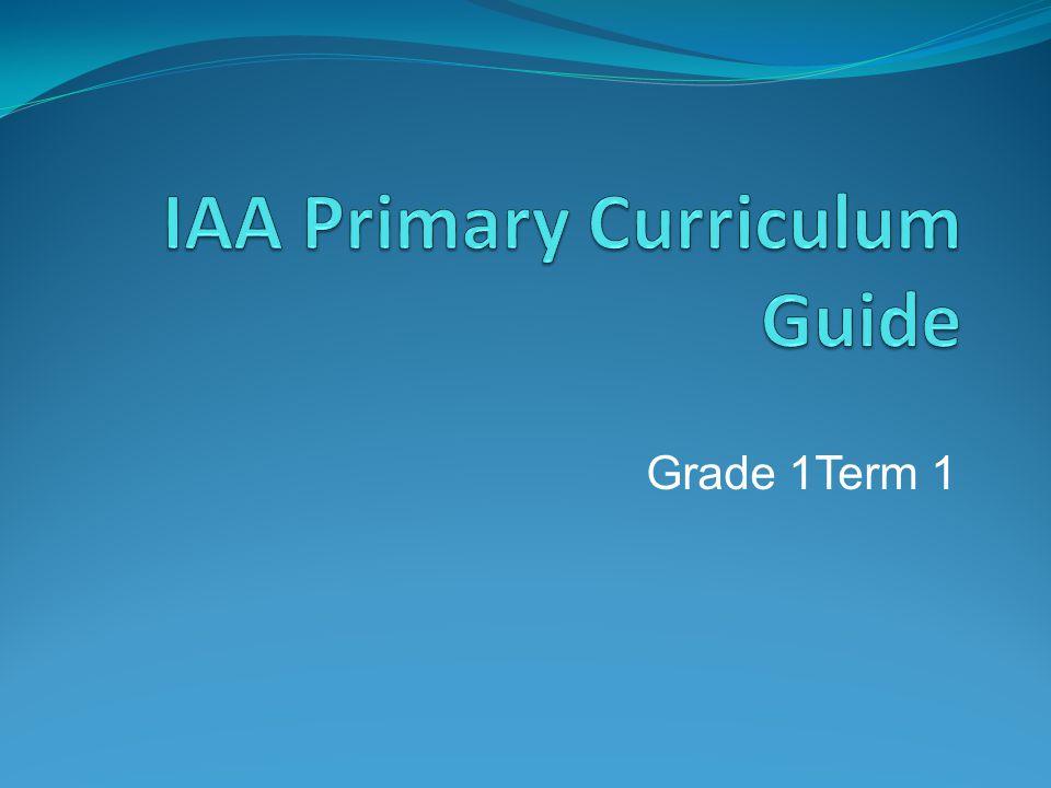 Grade 1Term 1