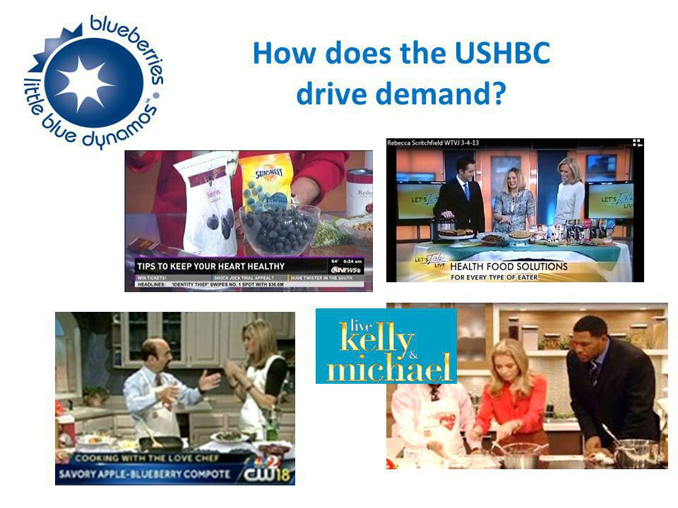 How does the USHBC drive demand