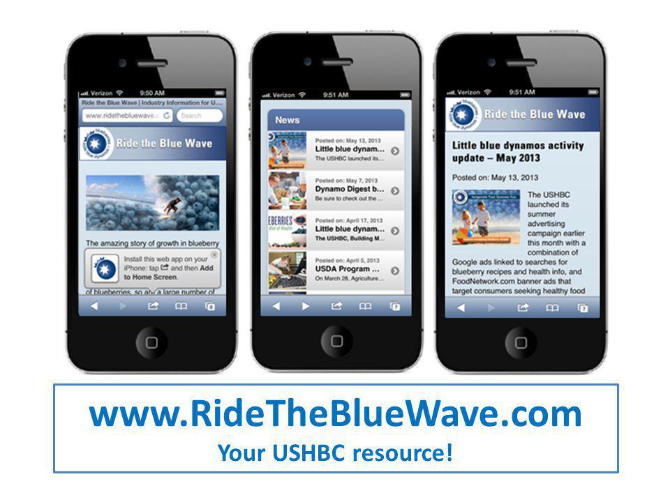 www.RideTheBlueWave.com Your USHBC resource!