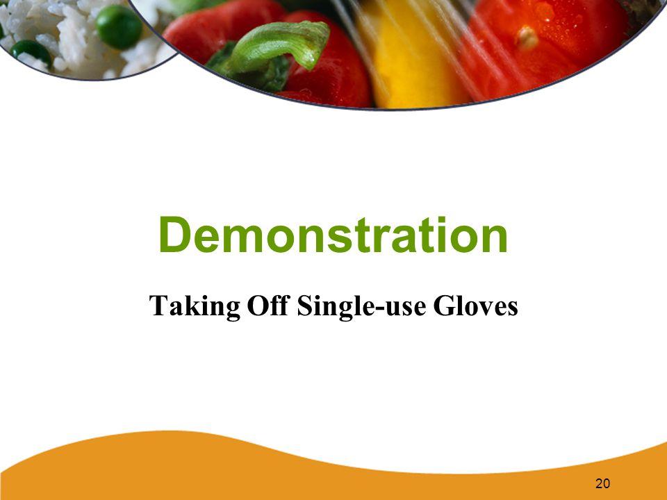 Demonstration Taking Off Single-use Gloves 20