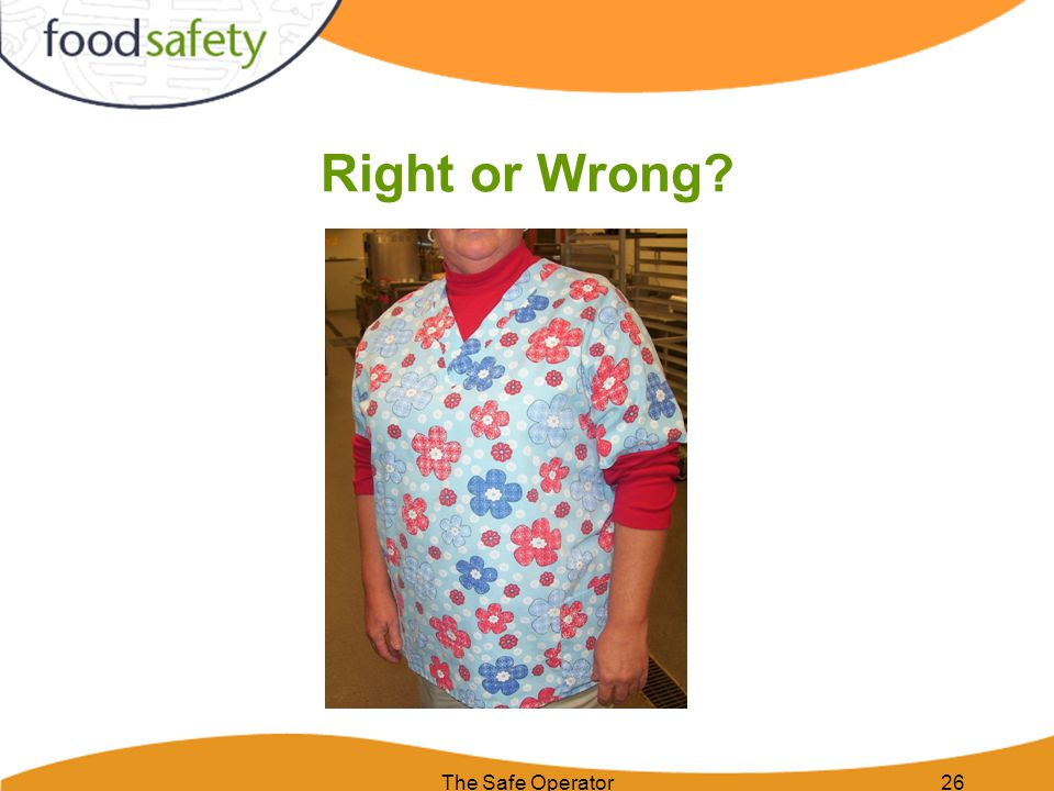 The Safe Operator26 Right or Wrong?