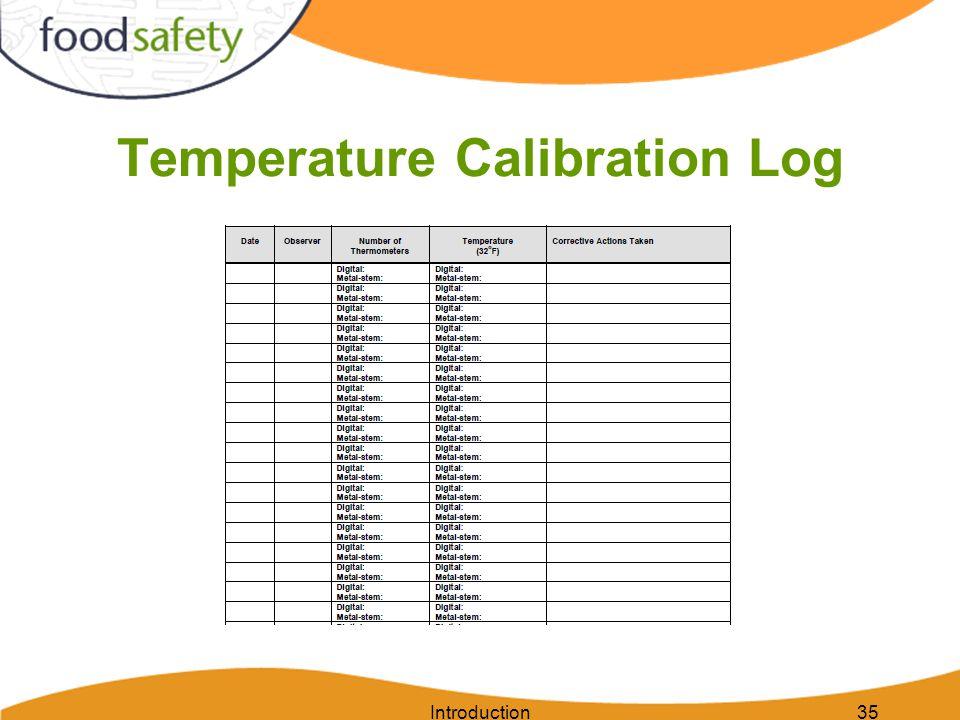 Temperature Calibration Log Introduction35