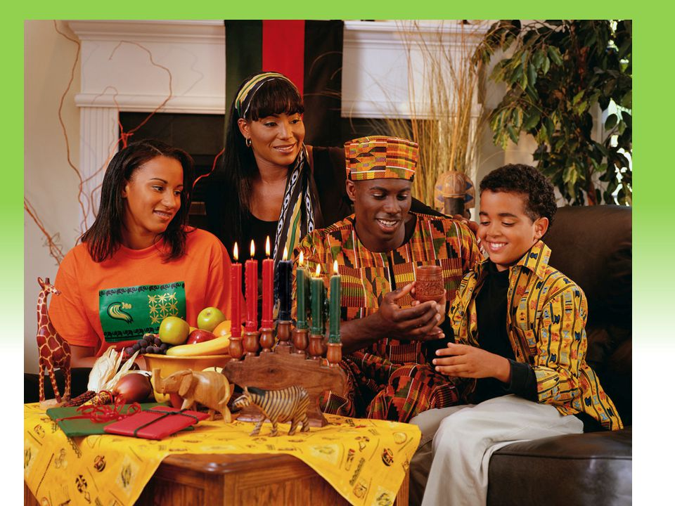 Your Description Goes Here KwanzaaKwanzaa Family-centered observance of cultural unity among people of African heritage Kwanzaa = first fruits in Swah