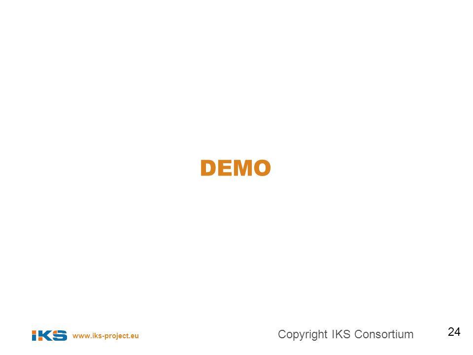 www.iks-project.eu DEMO 24 Copyright IKS Consortium