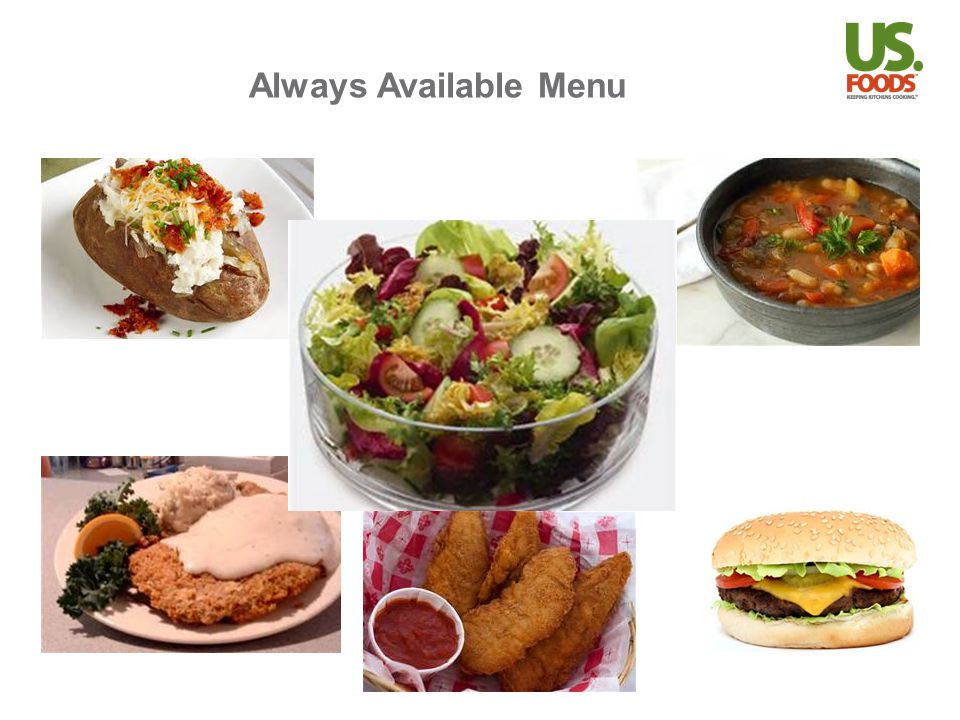 Always Available Menu