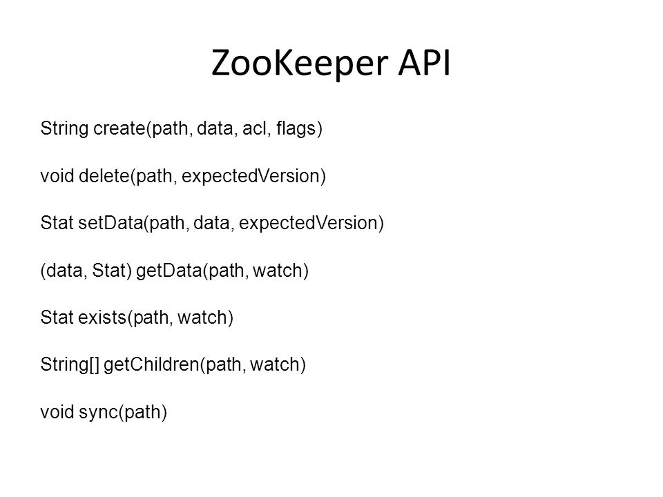 Who is using ZooKeeper? Hbase Solr Digg LinkedIn Unnamed financial institutions
