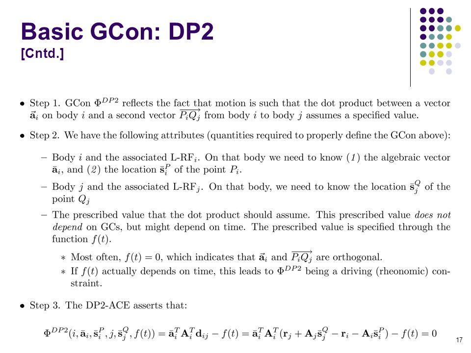 Basic GCon: DP2 [Cntd.] 17