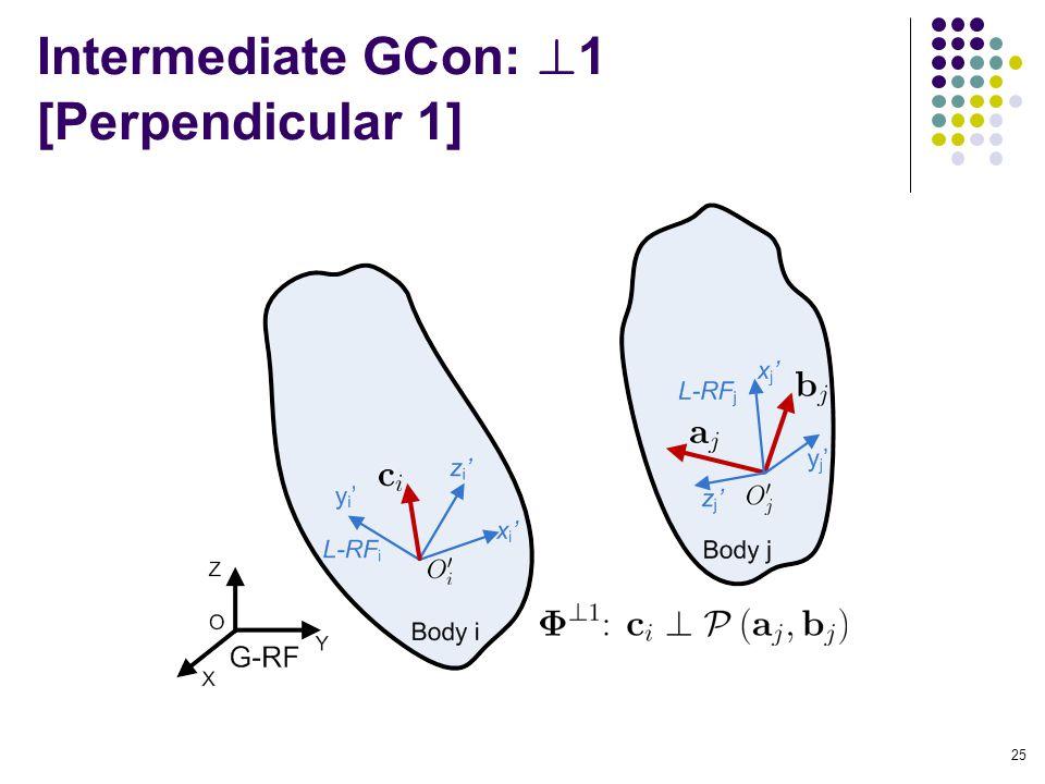Intermediate GCon: 1 [Perpendicular 1] 25