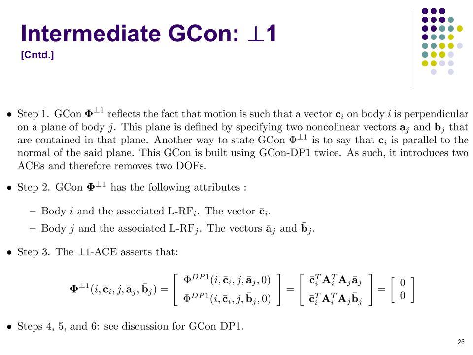 Intermediate GCon: 1 [Cntd.] 26