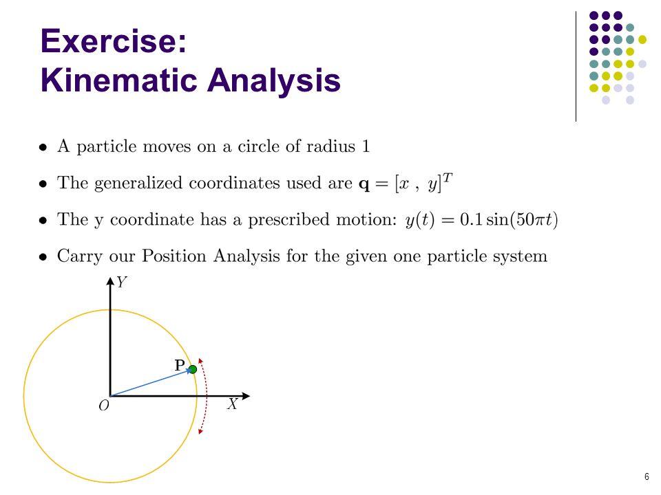 Exercise: Kinematic Analysis 6