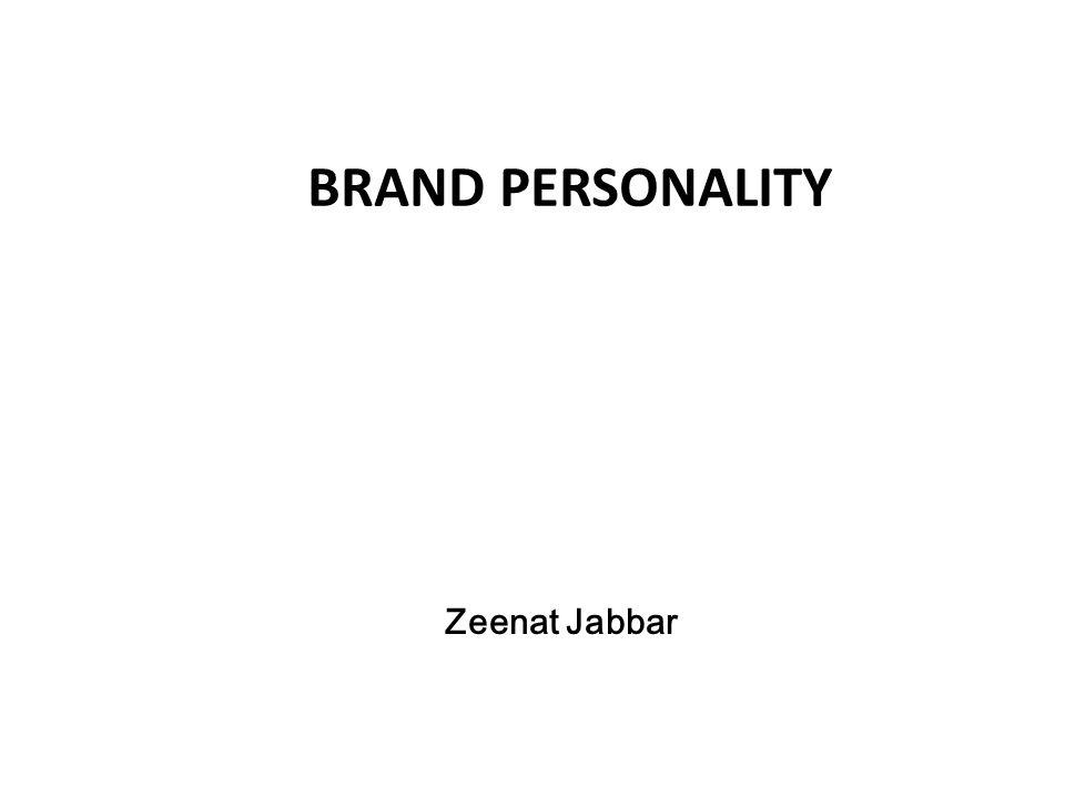 Zeenat Jabbar BRAND PERSONALITY