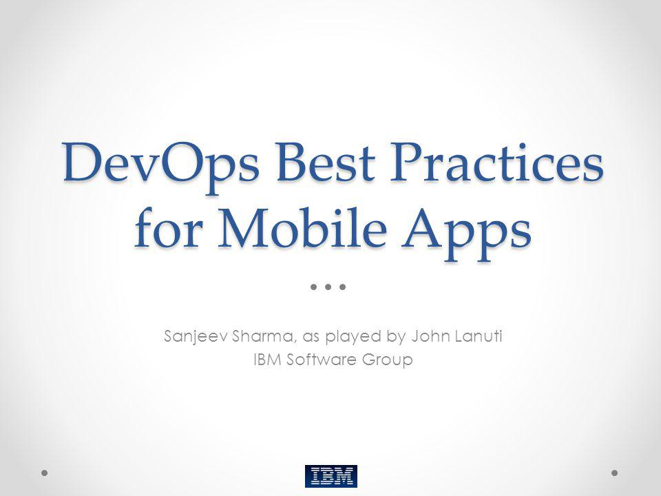 DevOps Best Practices for Mobile Apps