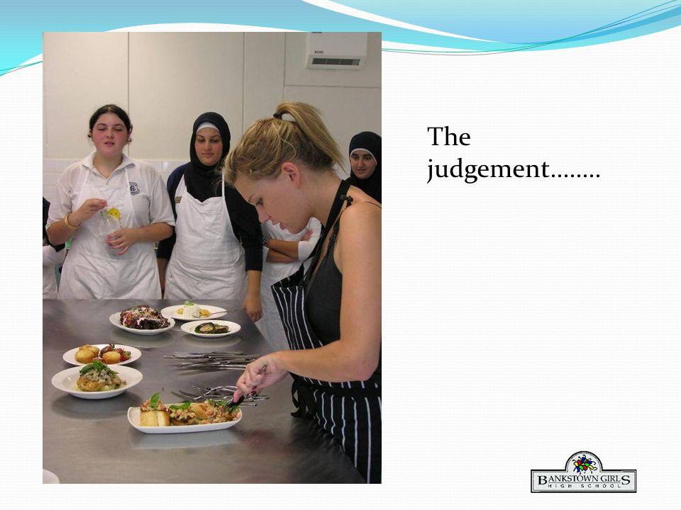 The judgement........