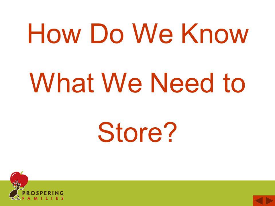 P rospering Families favorite Food Storage resource is Food Storage Planner The