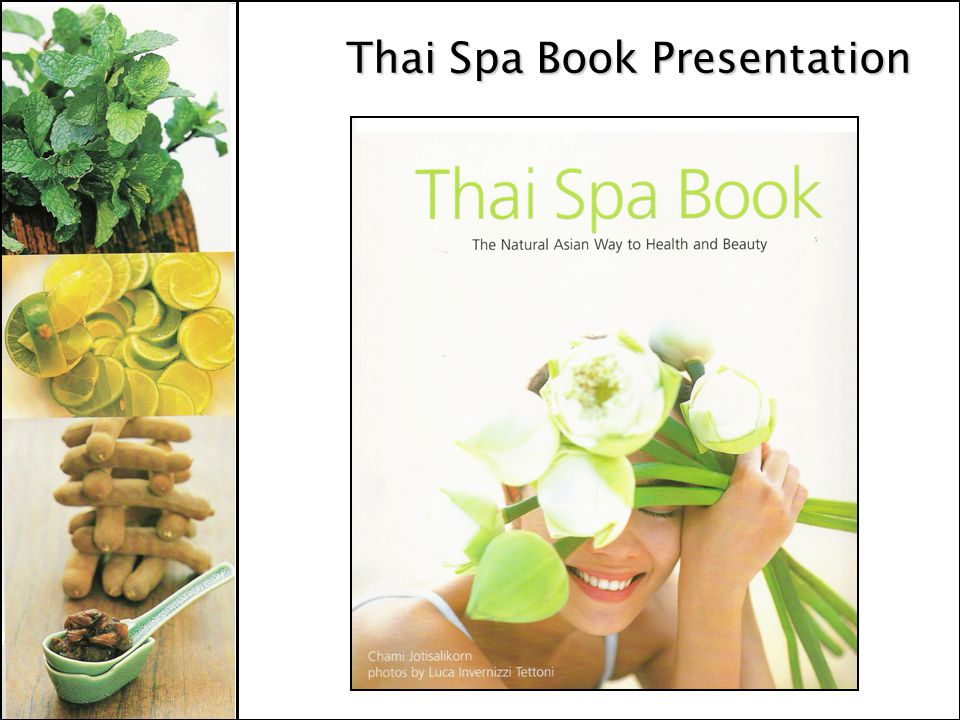 Thai Spa Book Presentation
