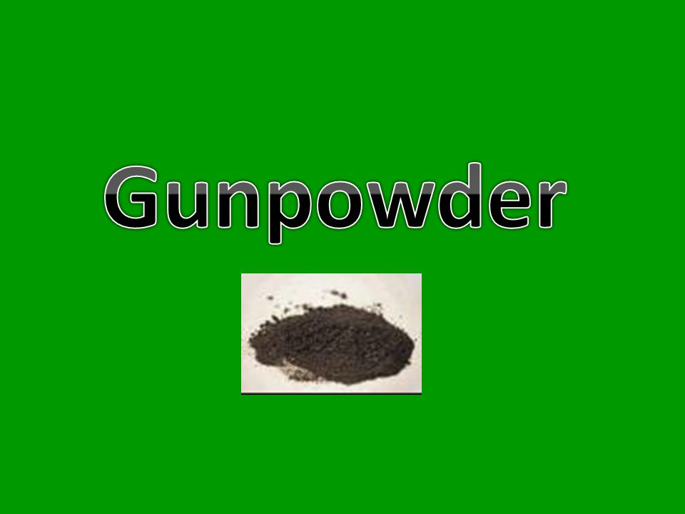 Gunpowder, also called black powder, is an explosive mixture of sulfur, charcoal and potassium nitrate, KNO 3 (also known as saltpetre/saltpeter) that burns rapidly, producing volumes of hot solids and gases which can be used as a propellant in firearms and as a pyrotechnic composition in fireworks.