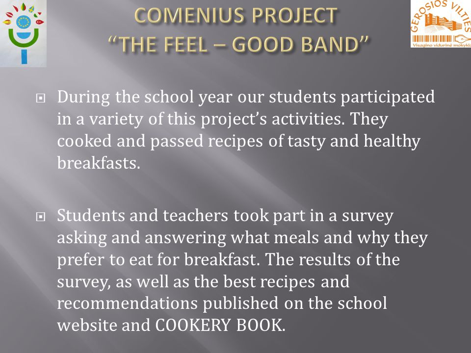 During the school year our students participated in a variety of this projects activities.