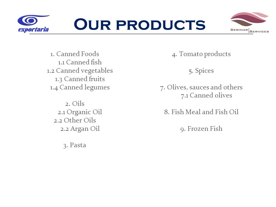 Our products 1.