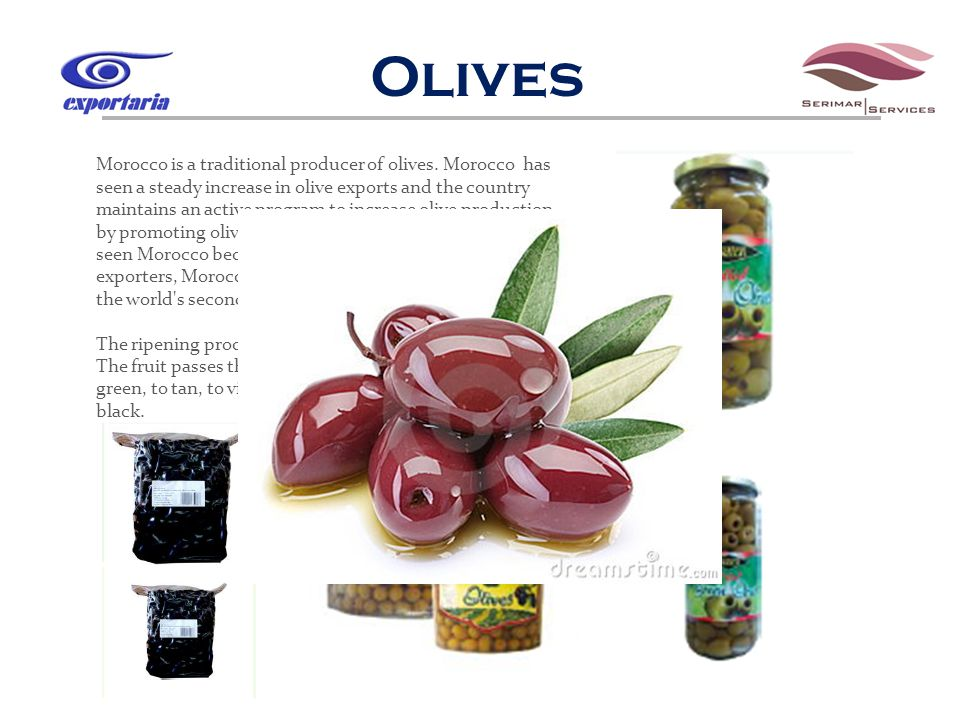 Olives Morocco is a traditional producer of olives.