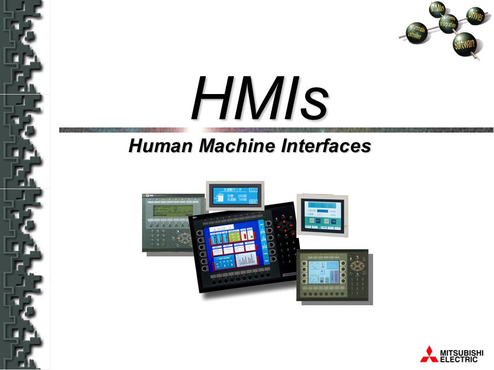 HMIs 146 mm 49 mm 75 mm F930GOT-BWD-E Dimensions Display size: 4.4-inch (280 x 80 dots) Display colour:2-colour (blue/white) Display device: STN Touch switches: 4 x 15 = 60 (50 positions/screen can be set.)