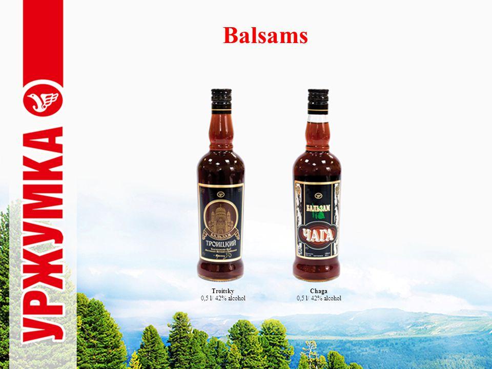 Balsams Chaga 0,5 l/ 42% alcohol Troitsky 0,5 l/ 42% alcohol