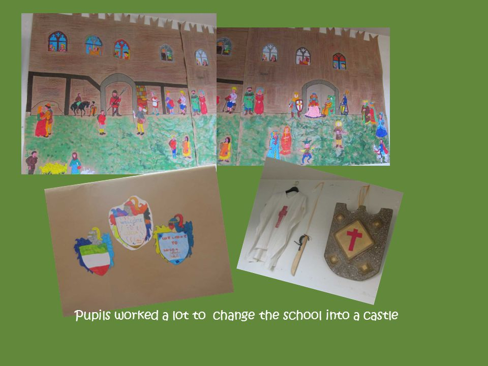 Pupils worked a lot to change the school into a castle