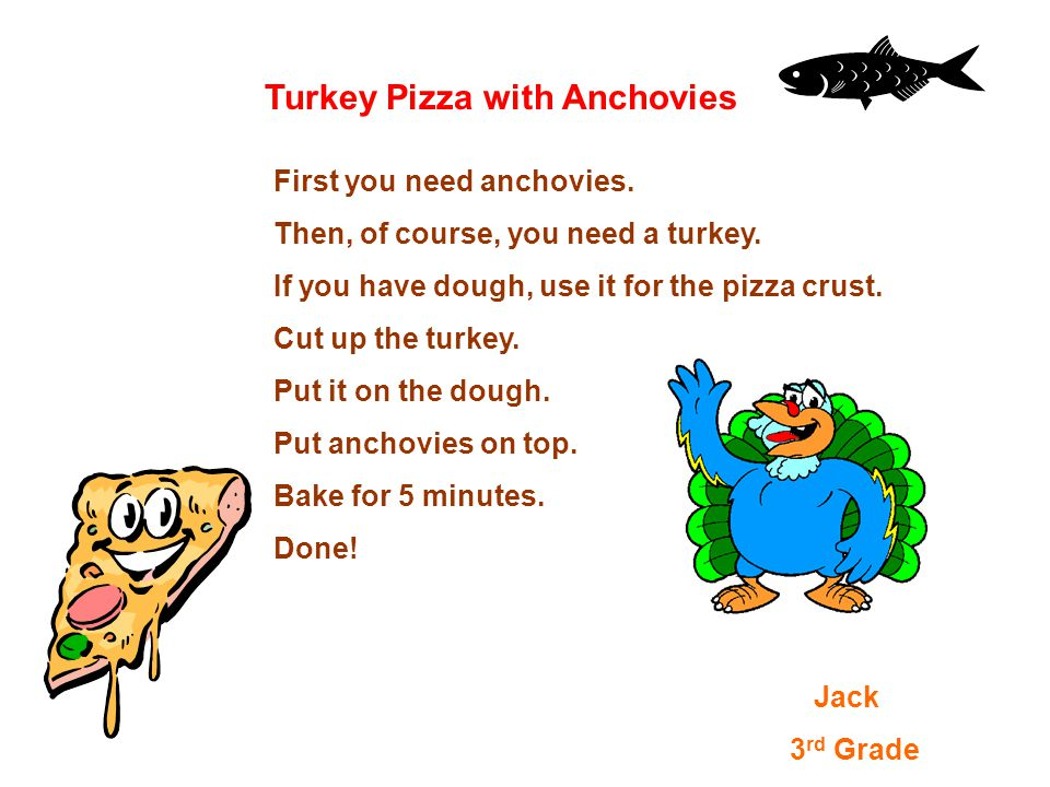 Turkey Pizza with Anchovies First you need anchovies.