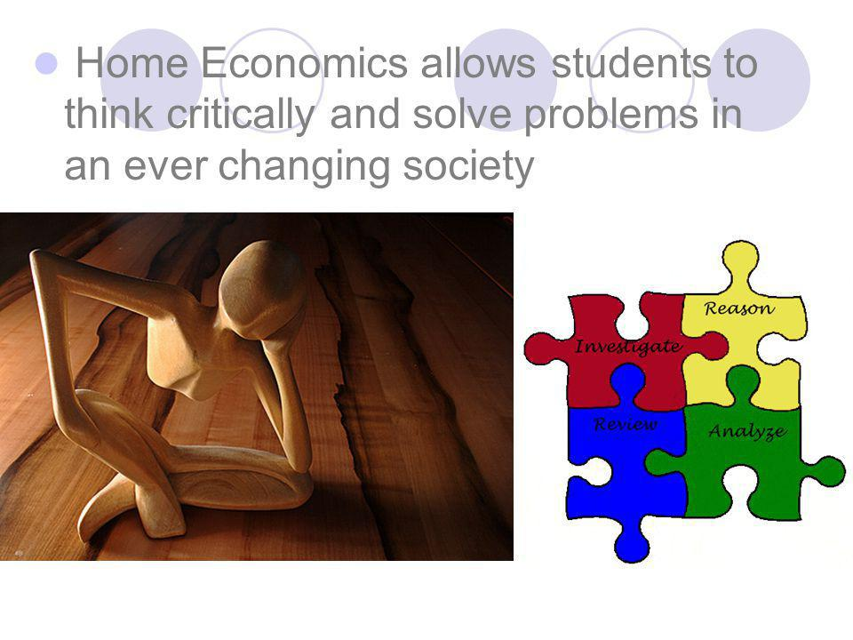 How can Home Economics provide students with the skills that will enhance their lives for the present and future?