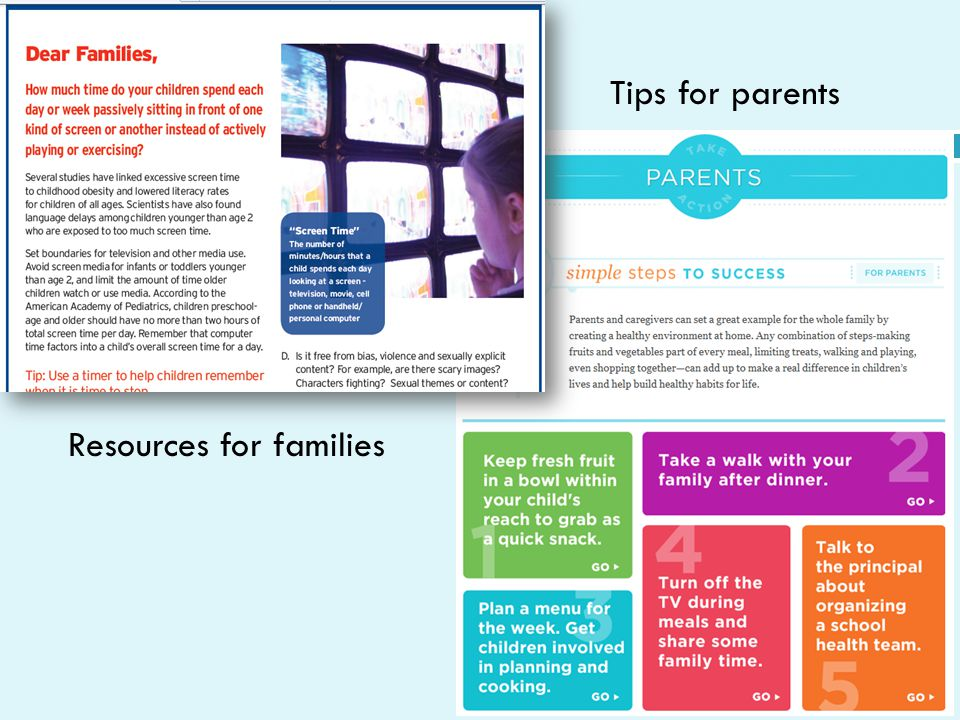 Resources for families Tips for parents
